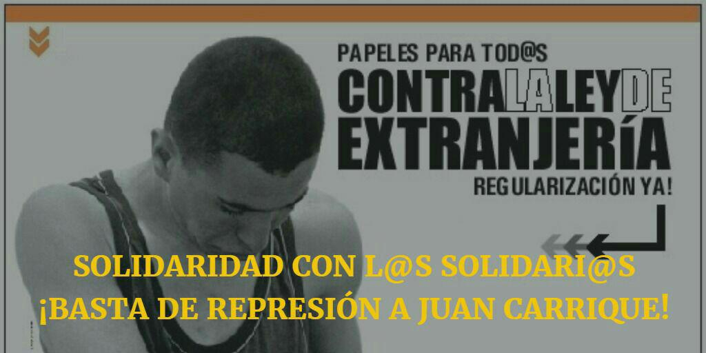 solidaridad juan carrique basta represion
