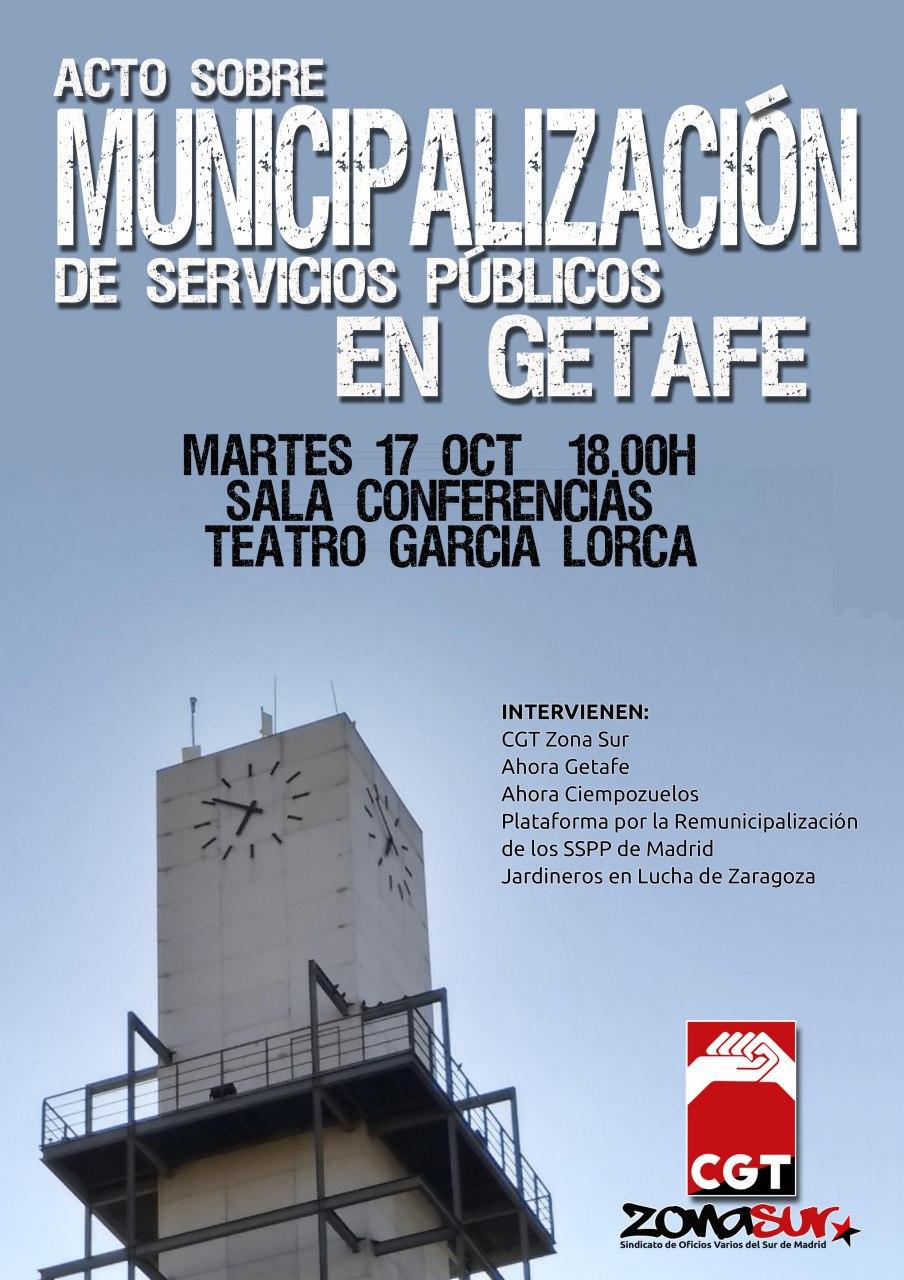 acto municipalizacion getafe cgt