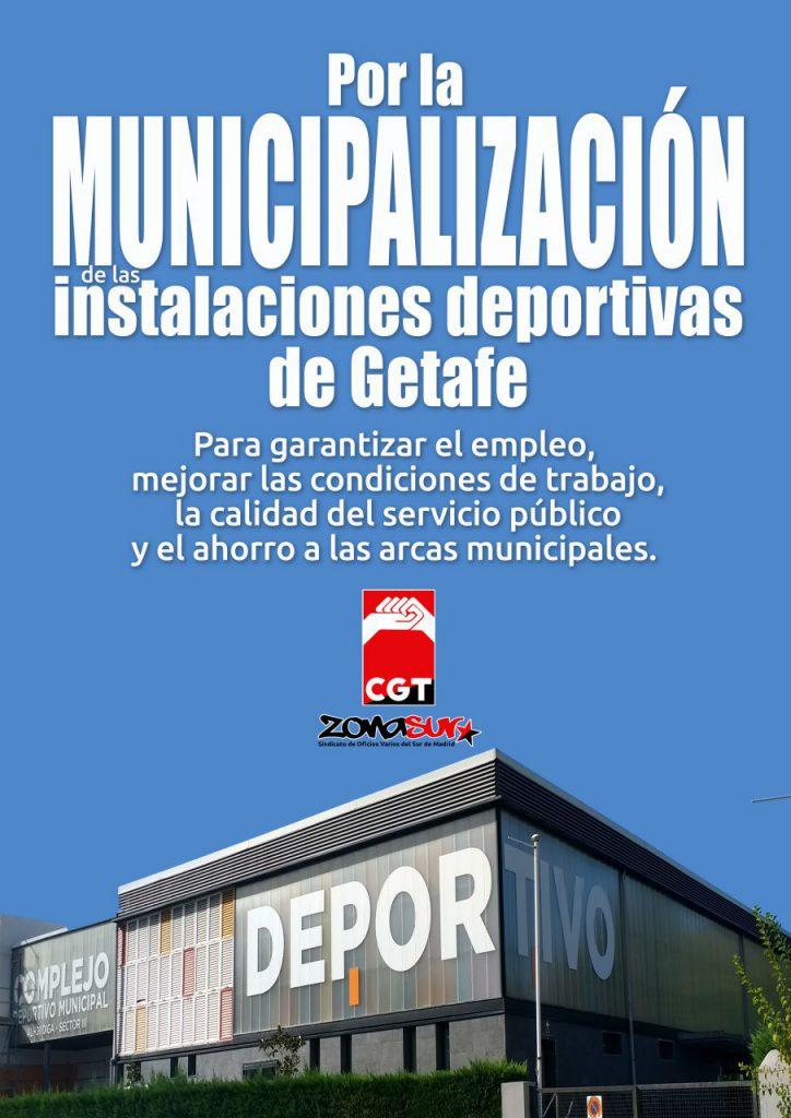 El Ayuntamiento de Getafe mantiene la privatización de las Instalaciones Deportivas dividiendo el servicio en 3 contratas distintas